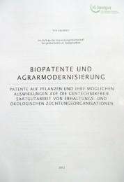 Biopatente und Agrarmodernisierung
